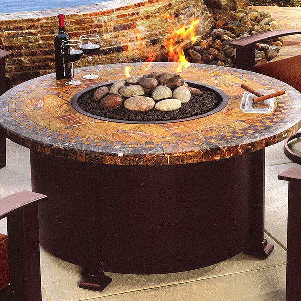 O.W. Lee Cypress Chat Fire Pit Table. When using anything that produces  radiant heat, even with concrete. Radiant heat draws moisture from whatever  it comes ... - O.W. Lee Cypress Chat Fire Pit Table. When Using Anything That