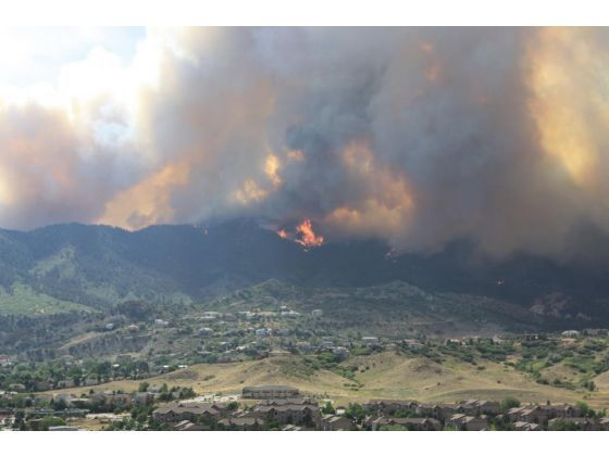 The flames are visible from almost everywhere in Colorado Springs - Tuesday June 26th