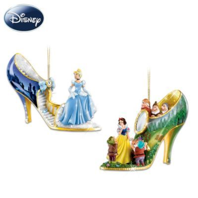 Disney Once Upon A Slipper Ornament Collection | Disney art and ...
