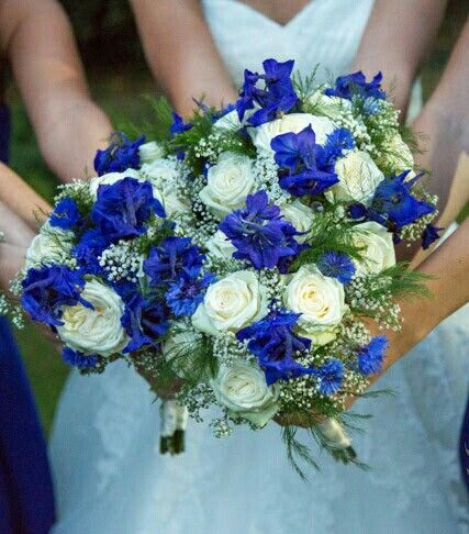 Pin On The Bouquet Beautiful Blues