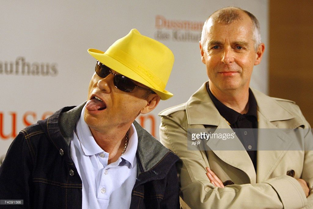 Chris Lowe L And Neil Tennant Of British Pop Band Pet Shop Boys Joke As They Present A Book With Pictures Of Their Gr Pet Shop Boys Neil Tennant Chris Lowe