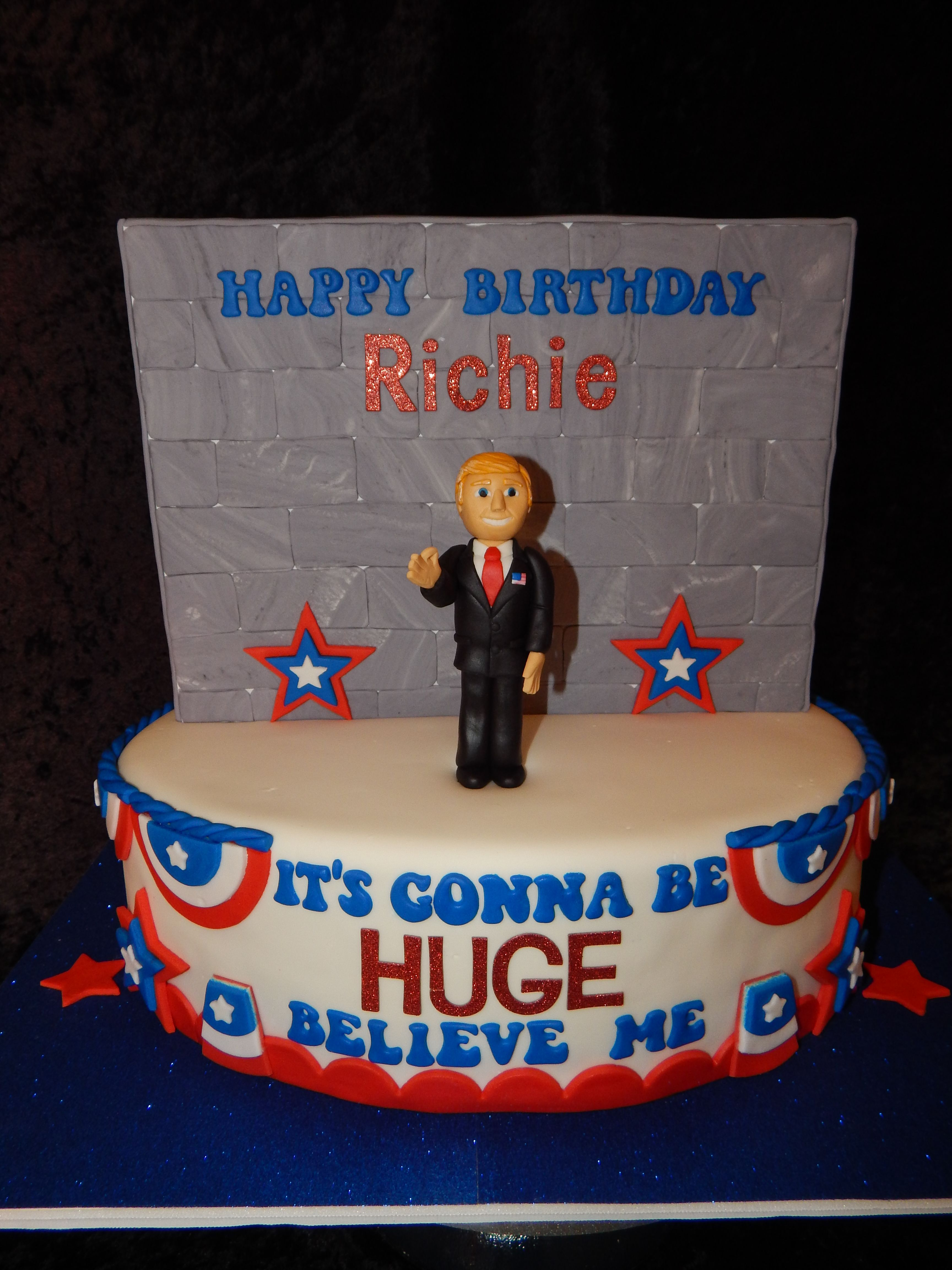 Donald Trump Birthday Cake By Little Cakes On The Prairie