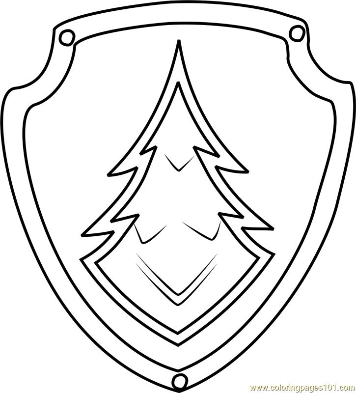Everest Badge Coloring Page Decoracion Paw Patrol Cumple Paw Patrol Bolsas Decoradas