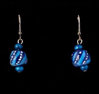 Powder Glass Bead Earrings