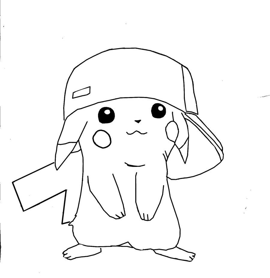 free printable pikachu coloring pages for kids - Pokemon Coloring Pages Free
