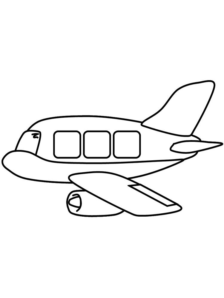 Coloring Page Of Airplane