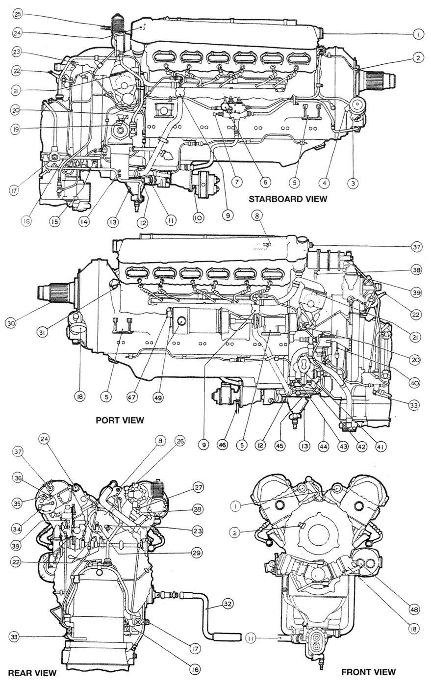 Mosquito motor Rolls-Royce 25 667 kilometros máxima