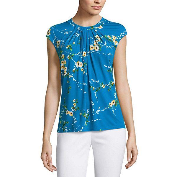 e4df81582a7 Liz Claiborne Short Sleeve Crew Neck T-Shirt-Womens - JCPenney | My ...