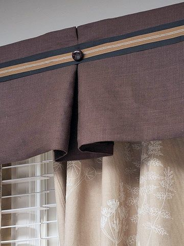 11 Diy Projects For Your Living Room No Sew Valance Diy