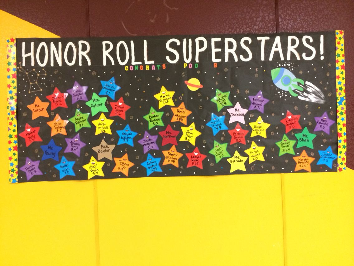 Celebrating Honor Roll Success My School Bulletin Boards And