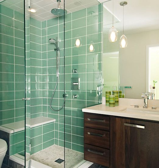I Love The Large Format Rectangular Tile And Glass