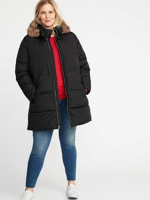 a8b66800cf5 Plus-Size Hooded Frost-Free Long-Line Jacket in 2019