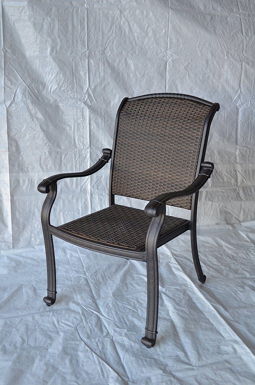 Santa Clara Outdoor Patio Dining Chair Dark