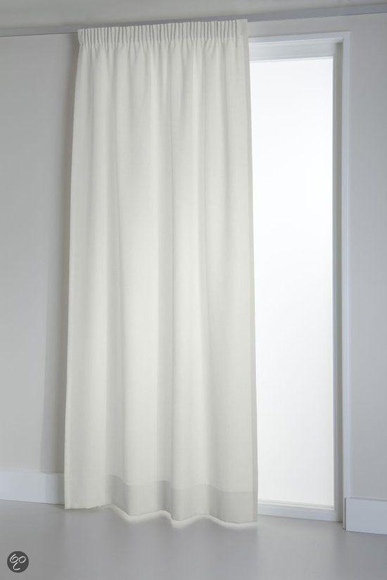witte gordijnen | bol.com | Okee! Kant en klaar gordijn Tweedo - Wit ...