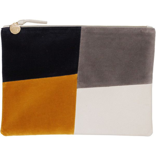 Flat Clutch (€210) ❤ liked on Polyvore featuring bags, handbags, clutches, evening bags, patchwork handbags, tote purses, flat purse and tote handbags