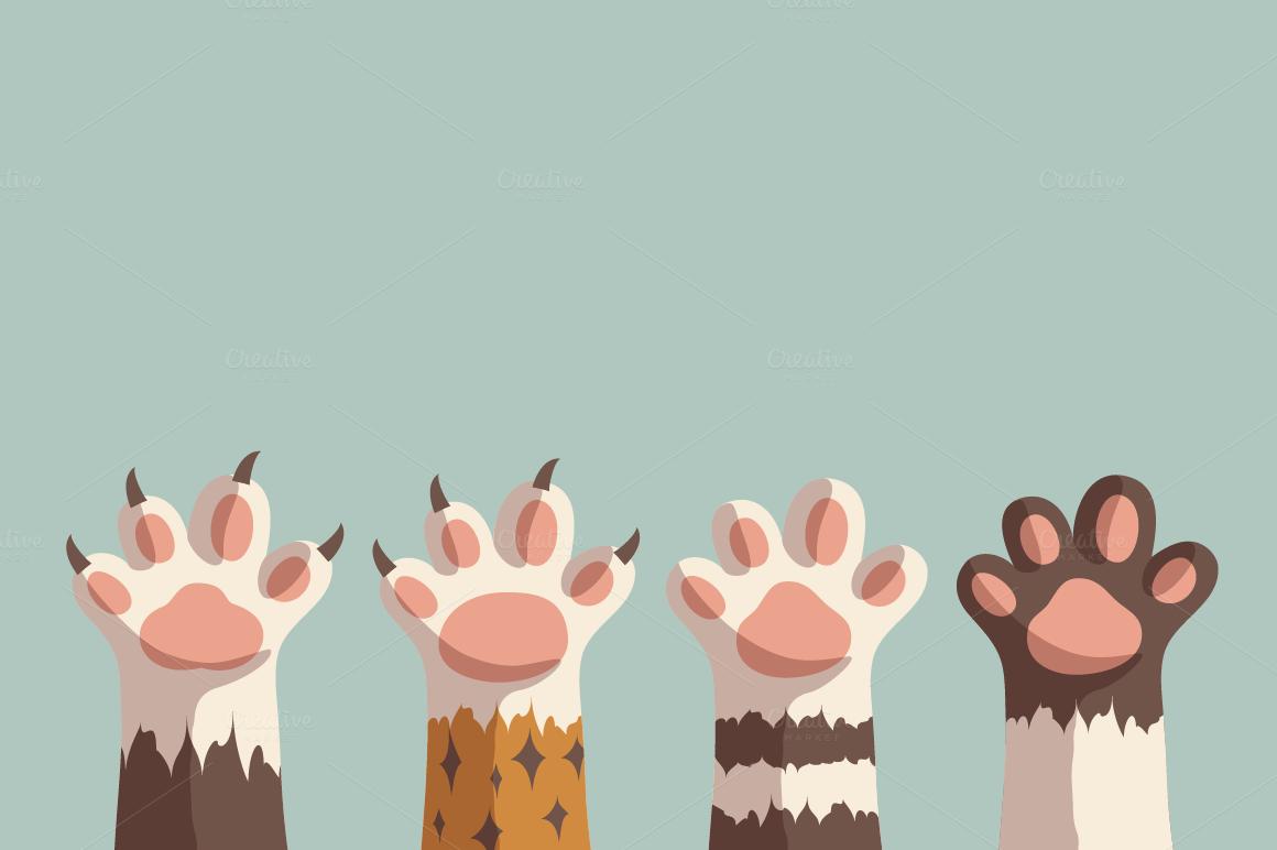 Cat Paw Desktop Wallpaper Art Cute Desktop Wallpaper Wallpaper Notebook