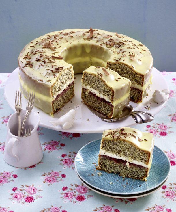 Mohnkuchen Mit Weisser Schokolade Rezept Kuchen