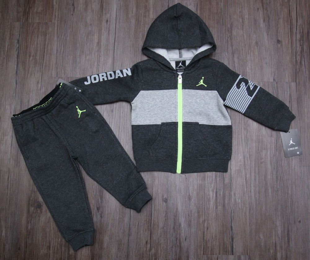 ba2e71f01faa20 air jordan toddler boy jogging set ~ tracksuit ~ red black gray ~ jumpman