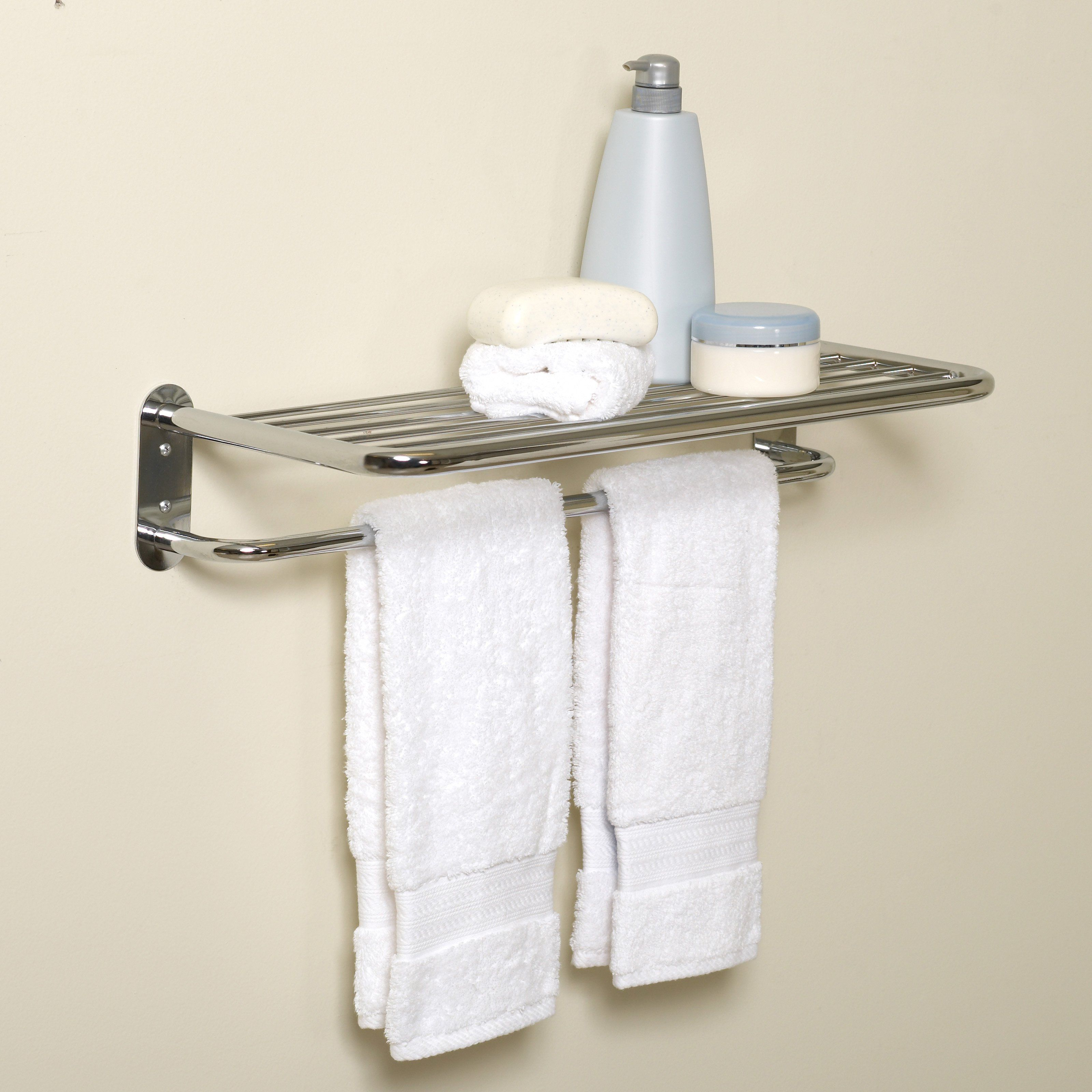 Zenith E9005SS Hotel Style Towel Shelf and Towel Bar - E9005SS ...