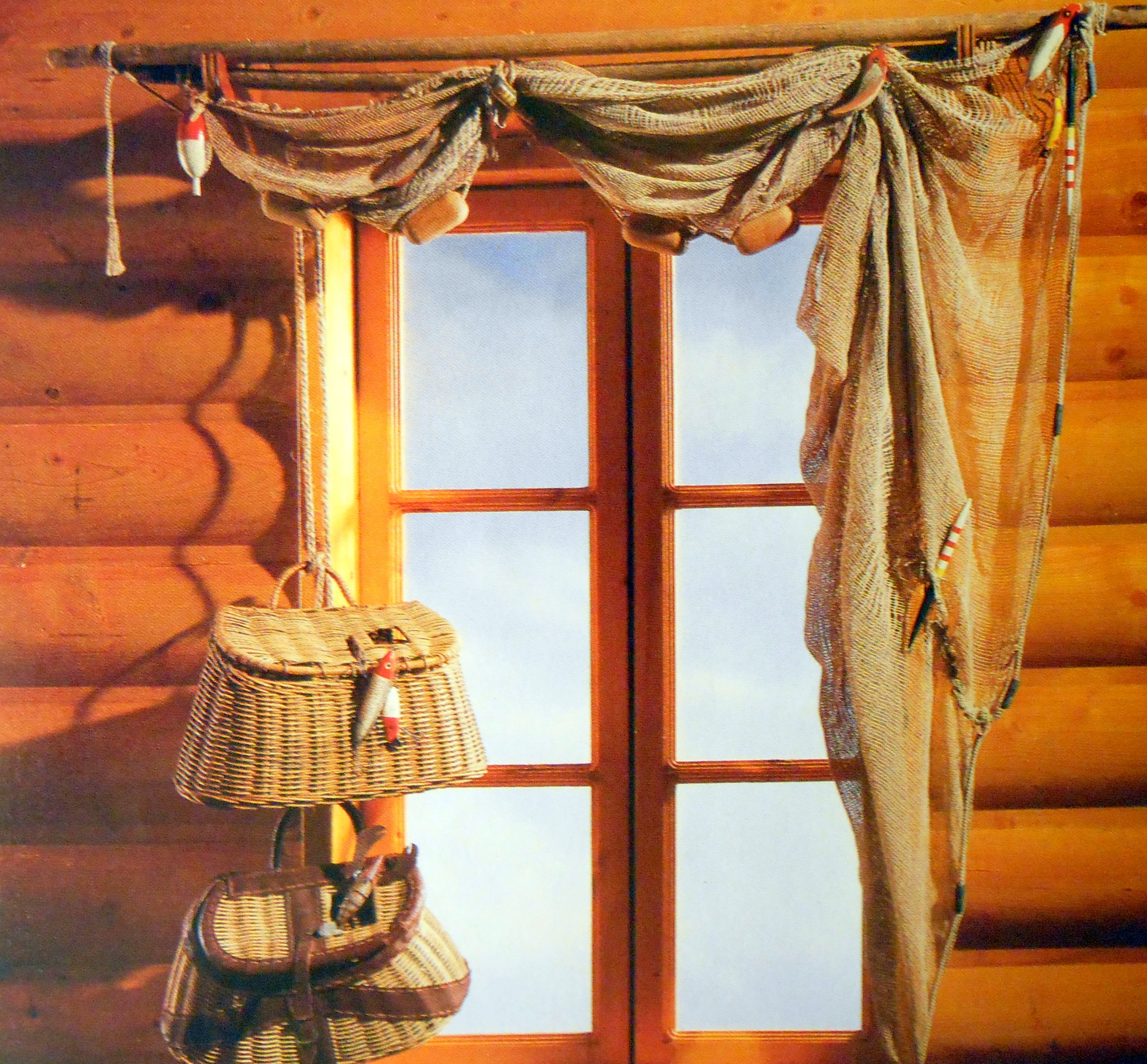 Creative window treatments not the fish theme but the for Fish curtains for windows