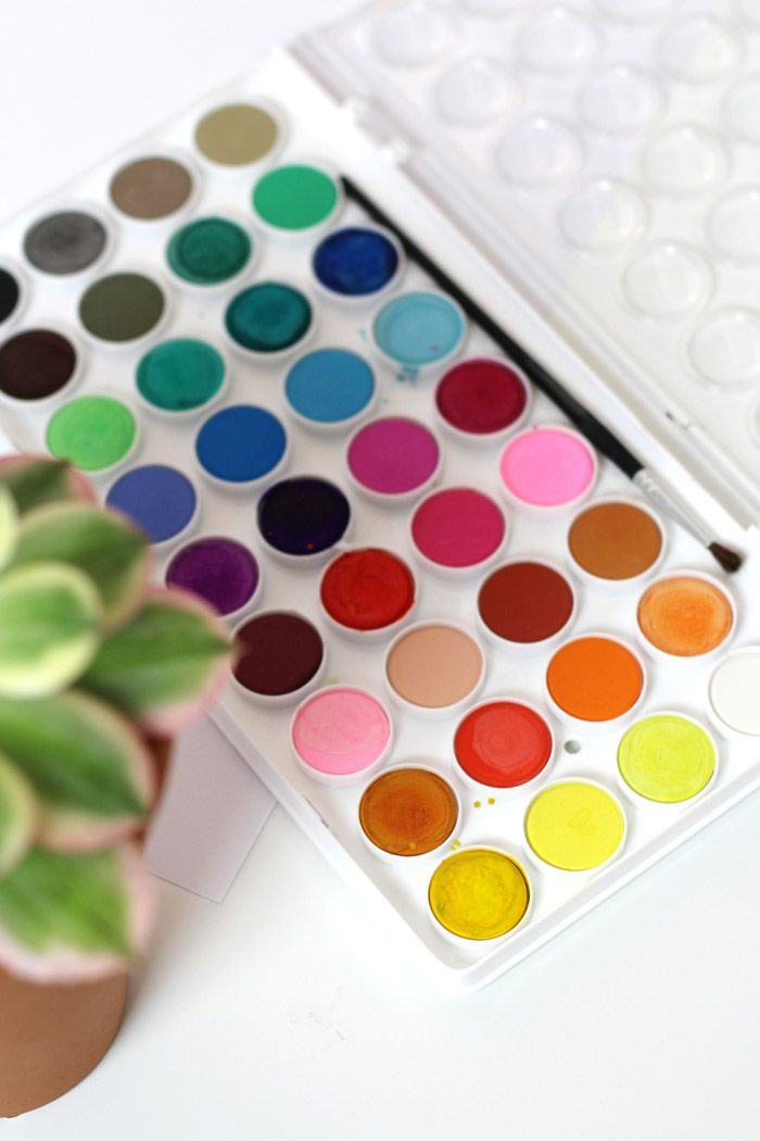My Favorite Watercolor Palette By Amy Tangerine Watercolor Hand