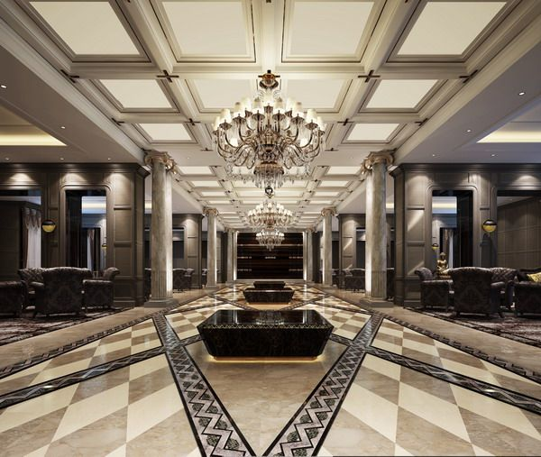 Dome Home Interior Design: Lobby Design, Luxurious Bedrooms