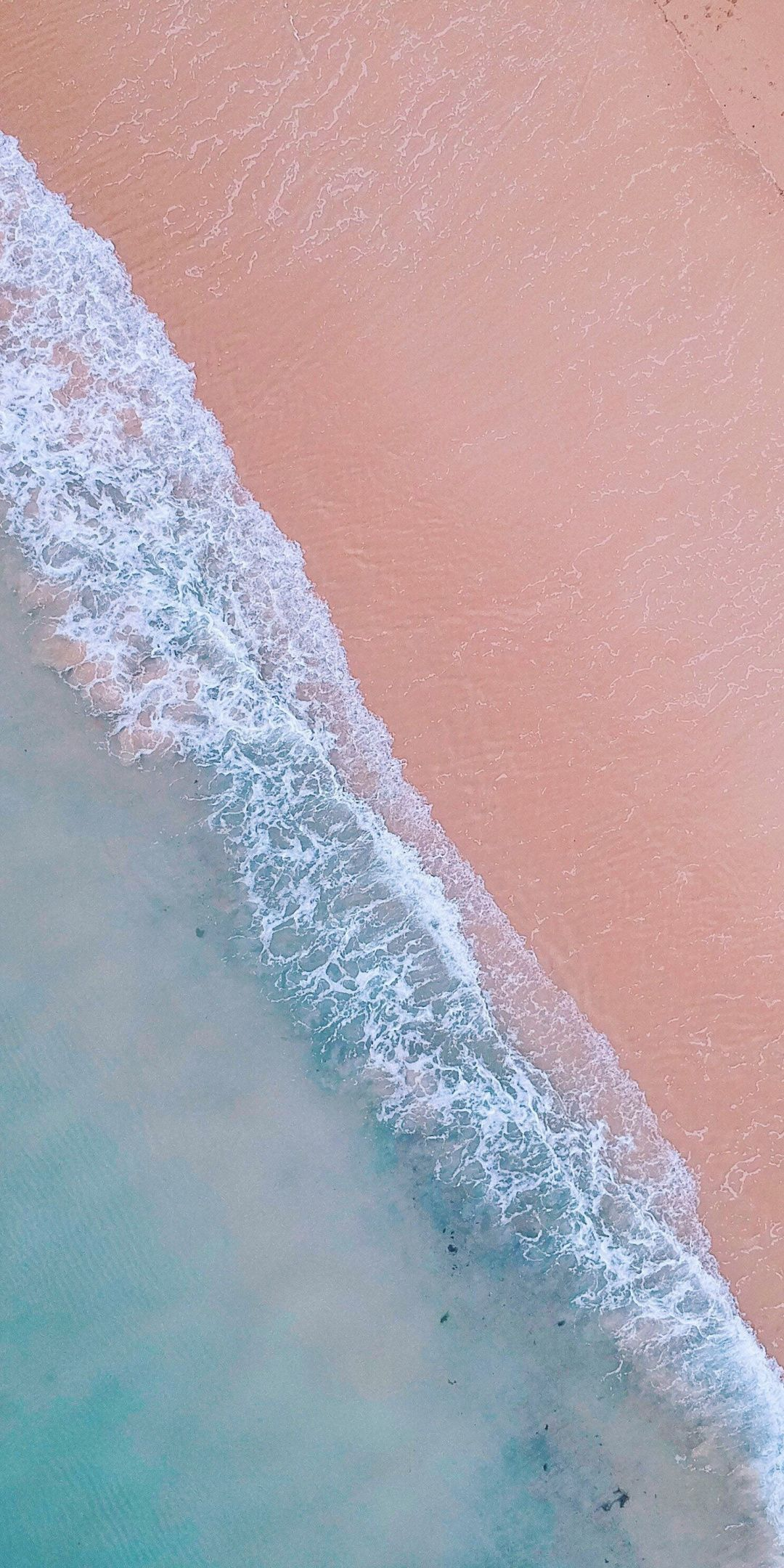 Nature, soft, sea waves, aerial view, beach, 1080x2160 wallpaper