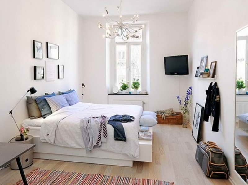 Smallapartmentbedroomdecoratingideaswithwhitewall 800 Classy Small Space Bedroom Decorating Ideas 2018