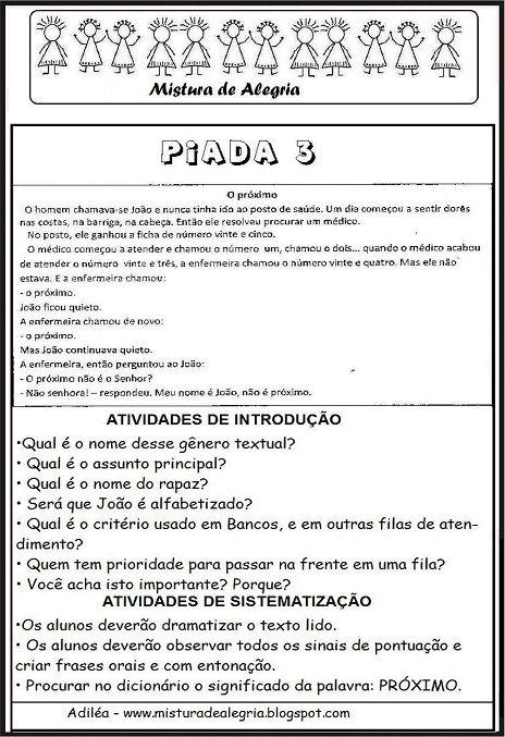 Piadas Para Educacao Infantil Piadas Piadas Infantis Educacao