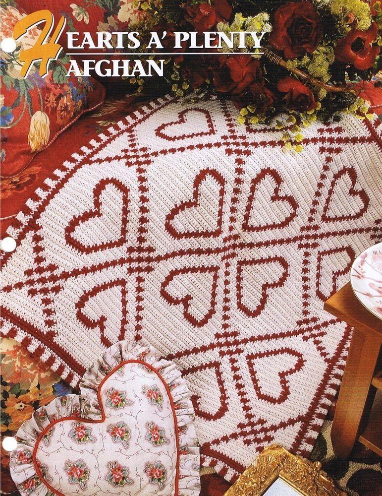 Hearts A\' Plenty Annie\'s Attic Crochet Afghan Pattern Instructions ...