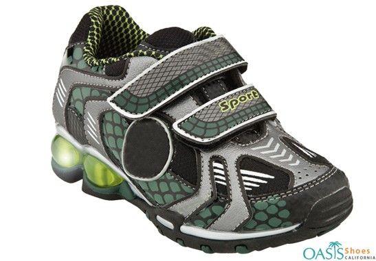 Tough Grey Soccer Theme Kids Shoes
