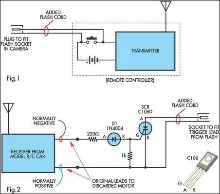 radio controlled electronic flash circuit diagram electronic rh pinterest com Electronic Circuit Projects Electronic Circuit Projects