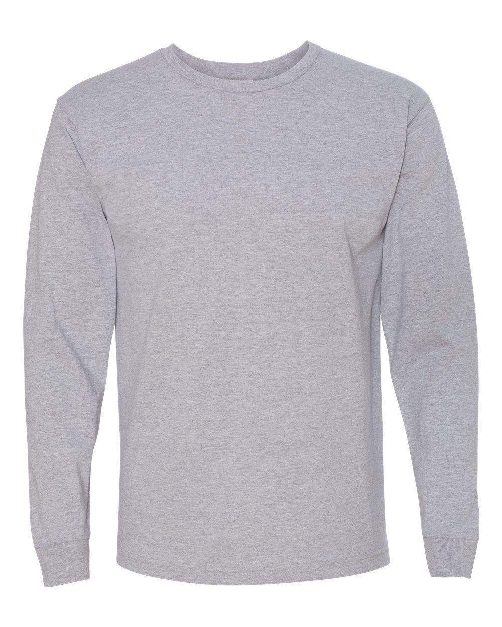 Bayside Usa Made 100 Cotton Long Sleeve T Shirt 5060 Dark Ash X Large In 2021 T Shirt Png Long Sleeve Tshirt Fashion