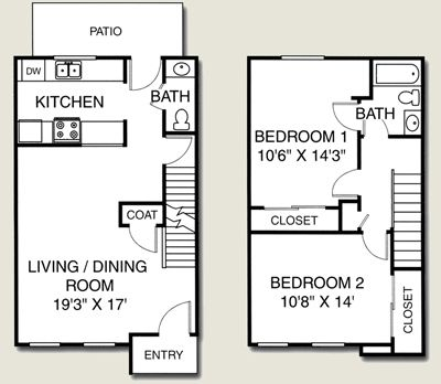 Avalon Place Floor Plans For Apartments And Townhomes Dewitt Mi 48820