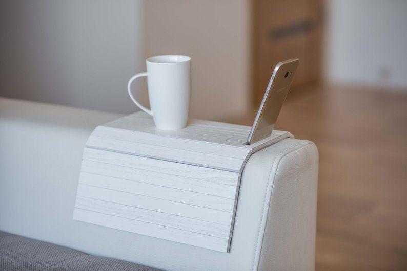 Sofa Arm Table Wood Sofa Arm Tray Sofa Arm Sofa Tray Sofa Tray Etsy Wood Sofa Sofa Arm Table Arm Rest Table