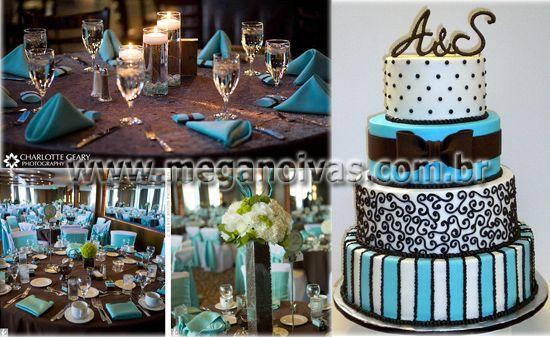 38ee82970 bolo de debutantes azul turquesa e dourado - Pesquisa Google ...