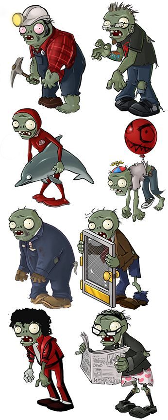 Rich Werner: Original Artist for Plants VS Zombies ...