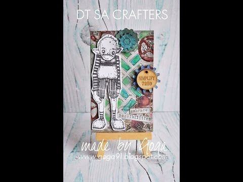 Mixed media ATC for Sa Crafters by Goga