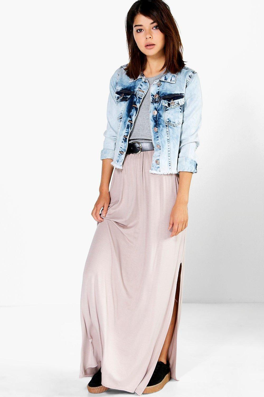 53e13e2df5 Lanie Side Split Floor Sweeping Maxi Skirt | things i want to buy ...