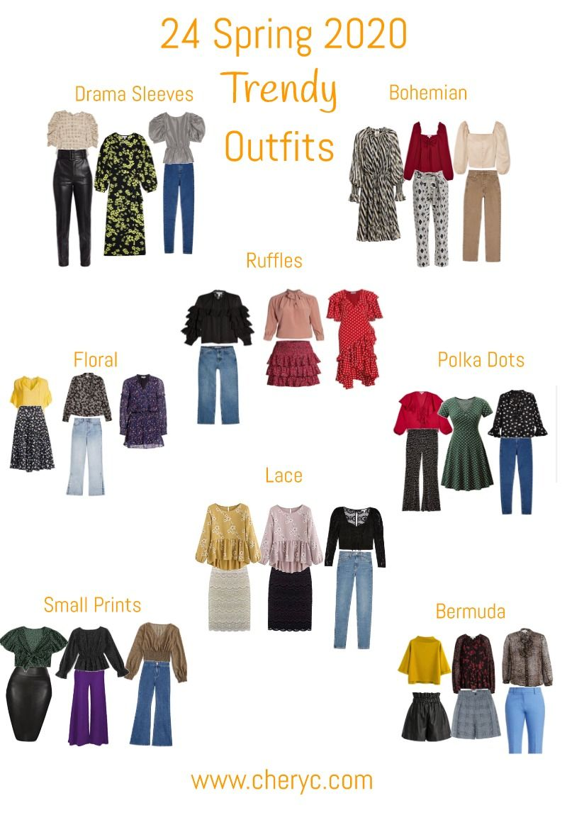 8 Spring 8 Trendy Outfits - Chery C  Fashion trend forecast