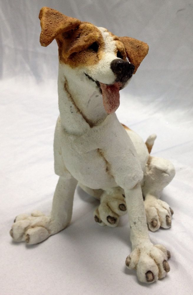 2002 A Breed Apart Jack Russell Terier Dog Statue Figurine 6 3 4