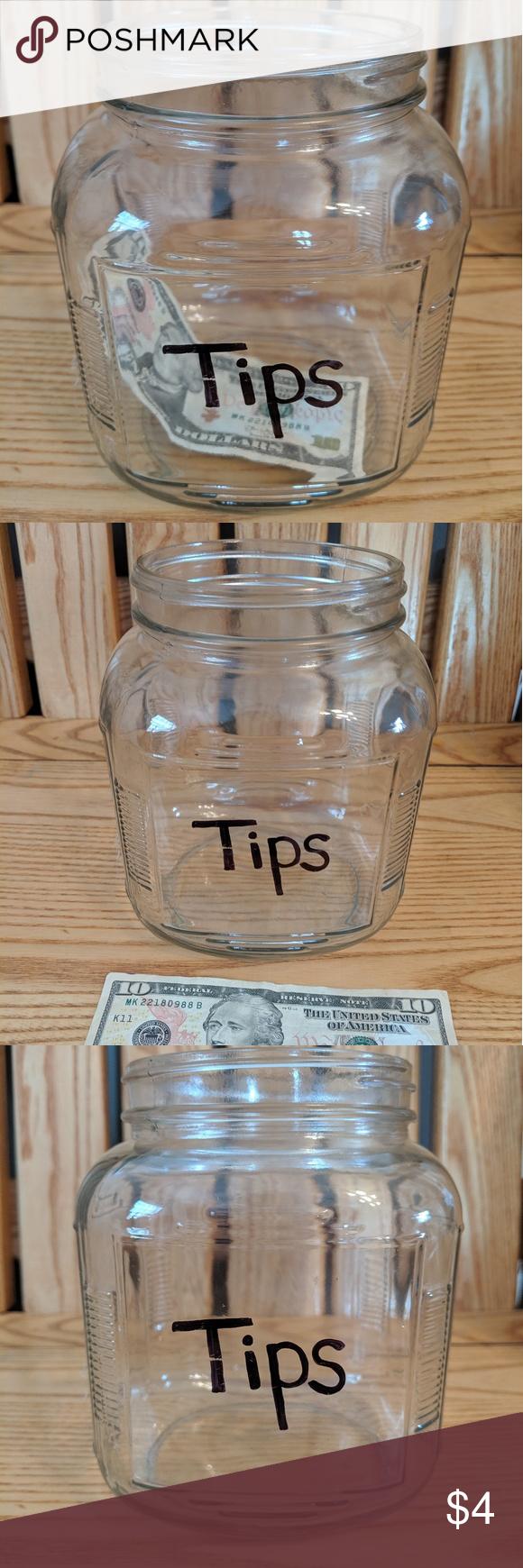 Tip Jar Glass Wedding Bar Tip Jars Wedding Bar Jar