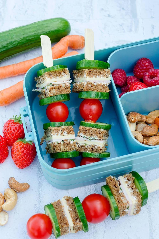 Gesunde Kinder-Lunchbox für das Frühstück im Kindergarten #childrenpartyfoods