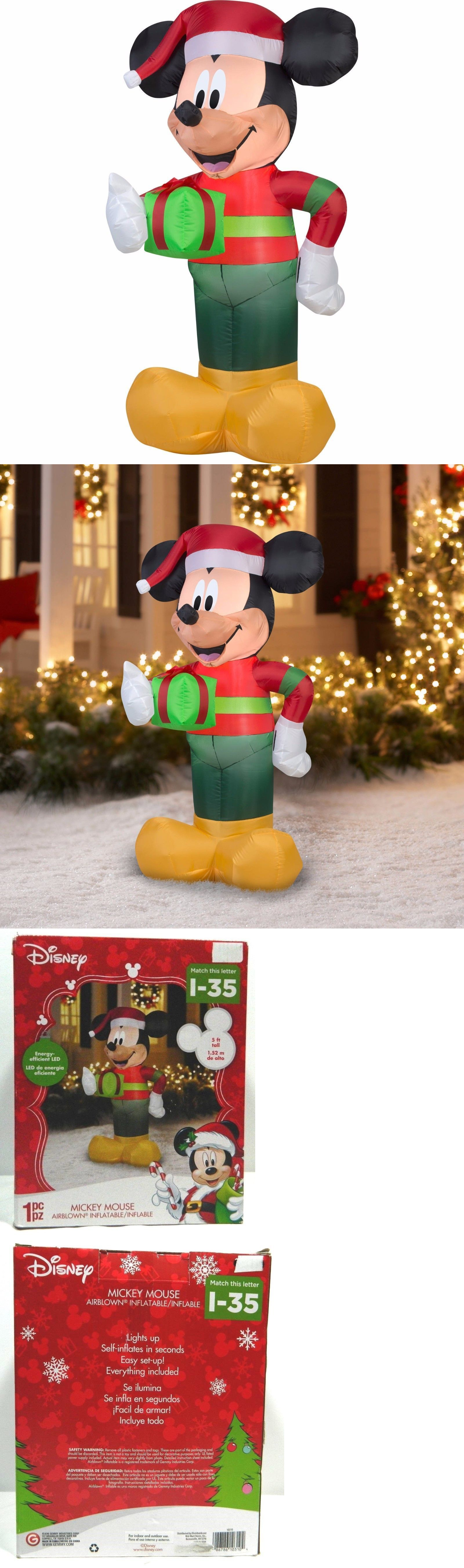 Yard D cor 156812: Gemmy Mickey Mouse Inflatable Christmas Holiday 5 ...