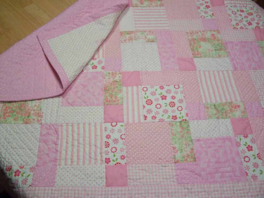 baby quilt patterns | Disappearing 9-patch~1st Baby Girl Quilt b ... : 9 patch baby quilt pattern - Adamdwight.com