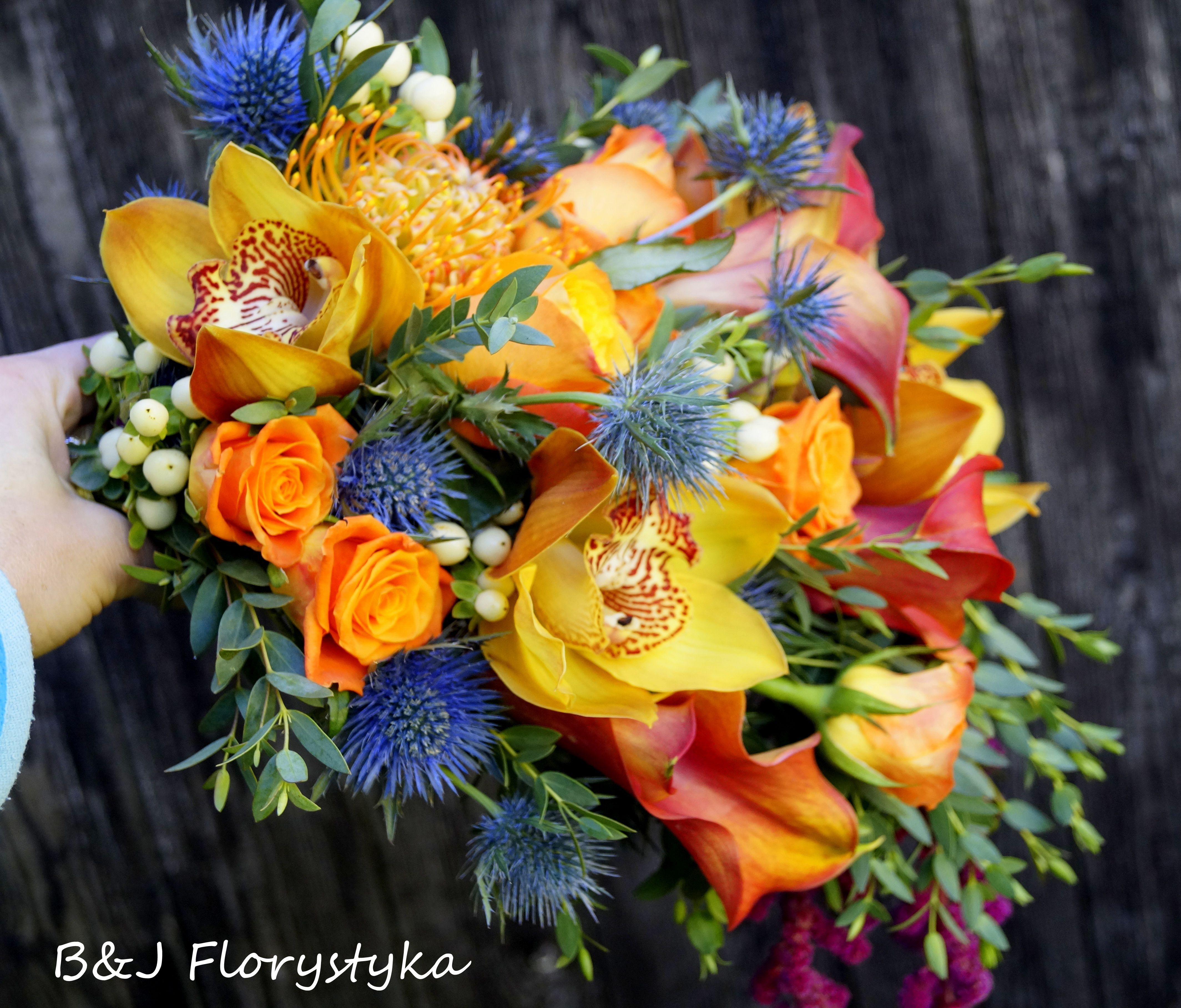 Bukiet Slubny Z Cymbidium Floral Wreath Floral Wreaths