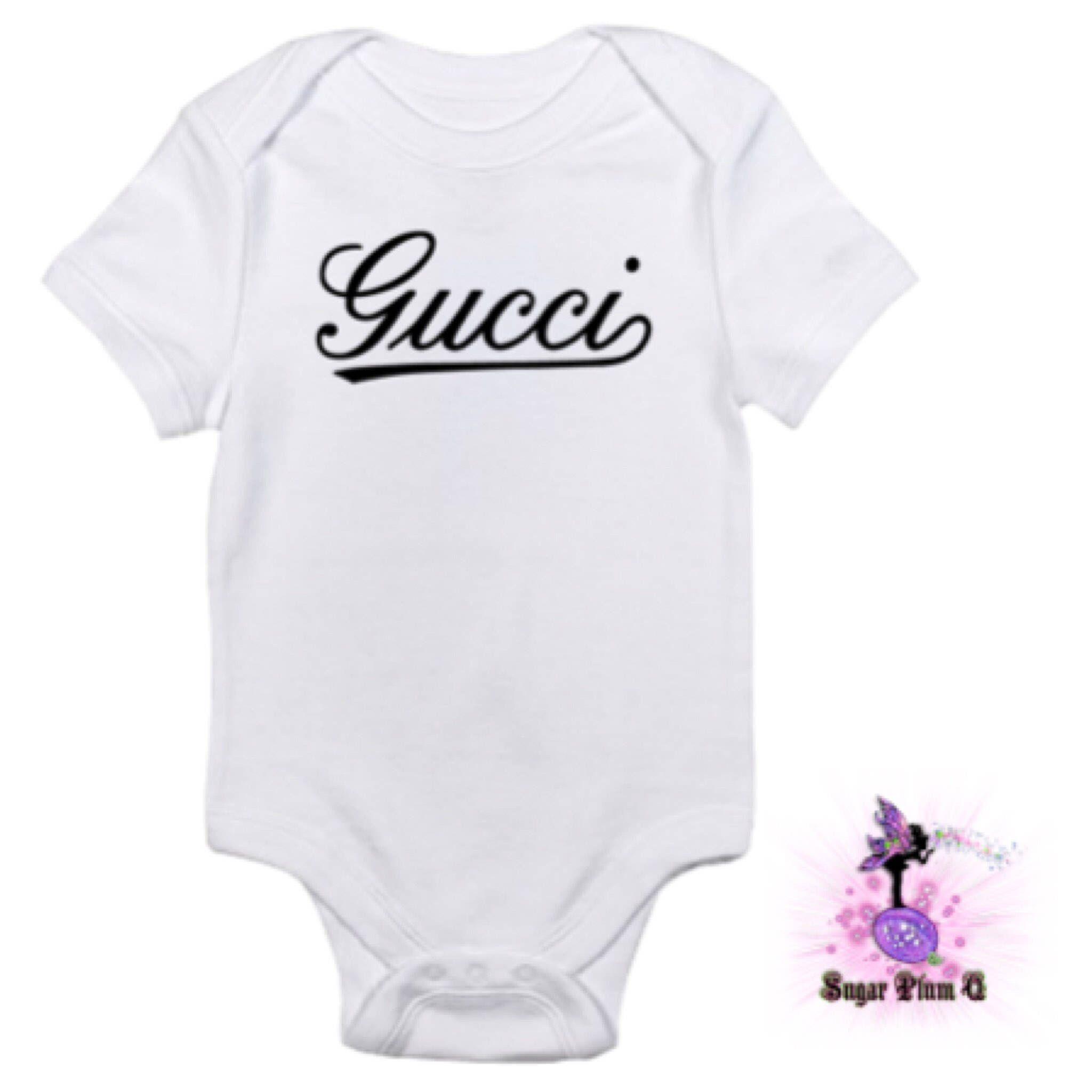 a9231269dae Designer Inspired Classic Gucci Baby Onesie Babyshower Gift
