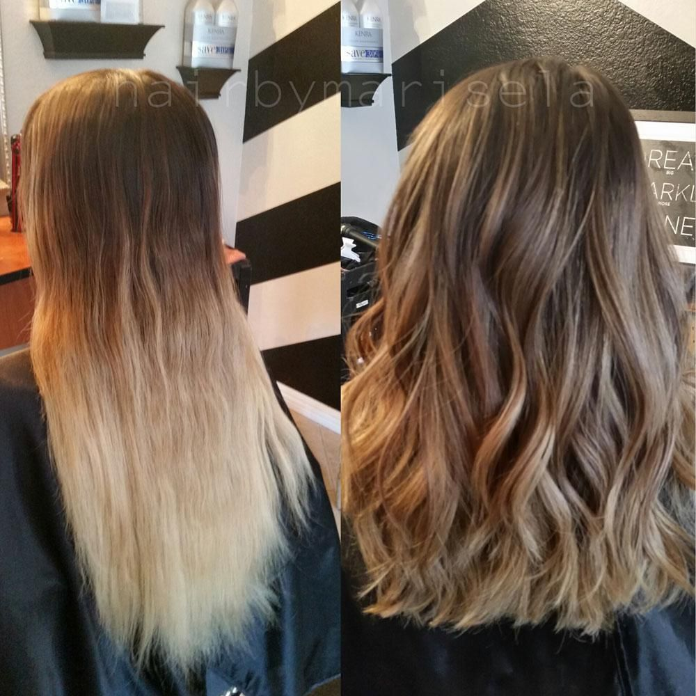 How To From Grown Out Ombre To Perfect Color Melt Career Hair