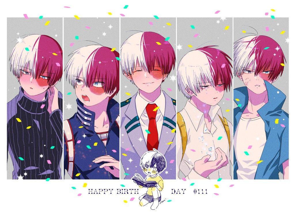 Todoroki Shouto's Birthday [1.11]♡ Hero, Anime boy, Anime