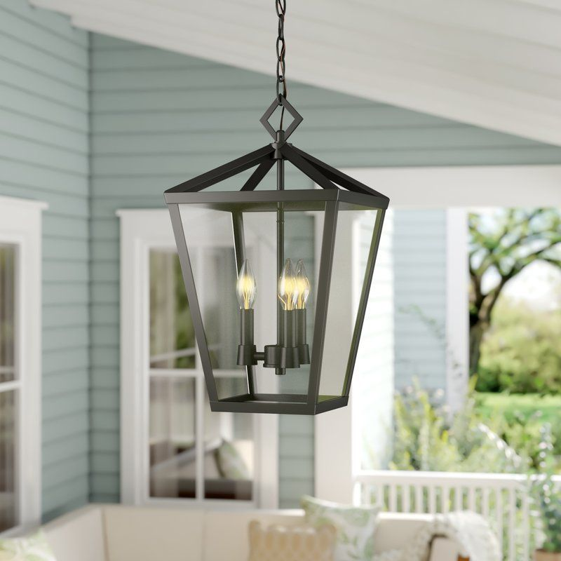 Jacinta 4 Bulb 17 5 H Outdoor Hanging Lantern Porch Light Fixtures Outdoor Hanging Lanterns Outdoor Hanging Lights